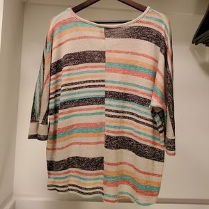 Rue21 Tops - Rue21 Striped Batwing Top